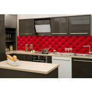 Piros bútor, konyhai matrica hátfal, 260 cm