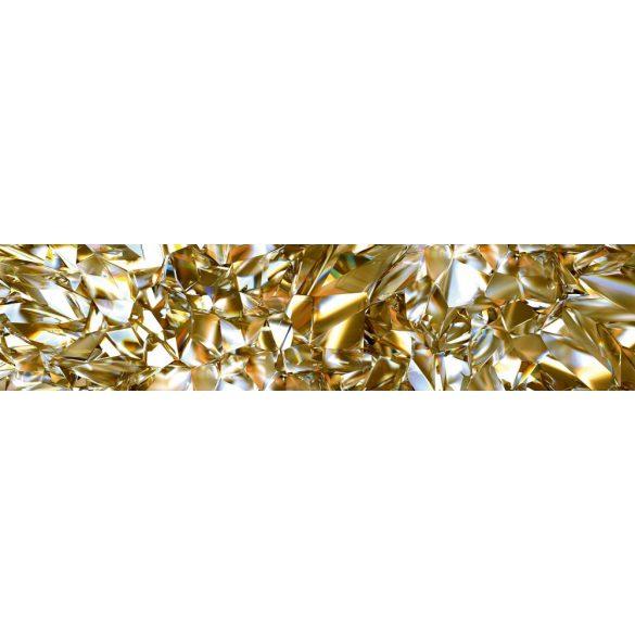 Sárga gyémánt, konyhai matrica hátfal, 260 cm