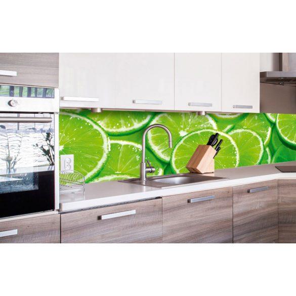 Lime szeletek, konyhai matrica hátfal, 260 cm