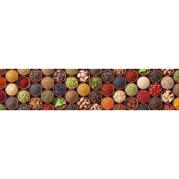 Fűszerek tálkában, konyhai matrica hátfal, 260 cm