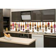 Szárított fűszerek, konyhai matrica hátfal, 260 cm