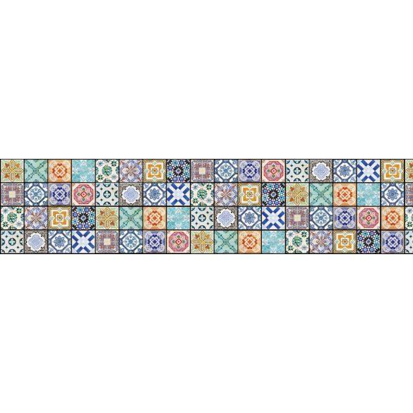 Csempeminták, konyhai matrica hátfal, 260 cm