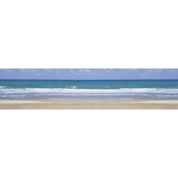 Hullámos tengerpart, konyhai matrica hátfal, 260 cm
