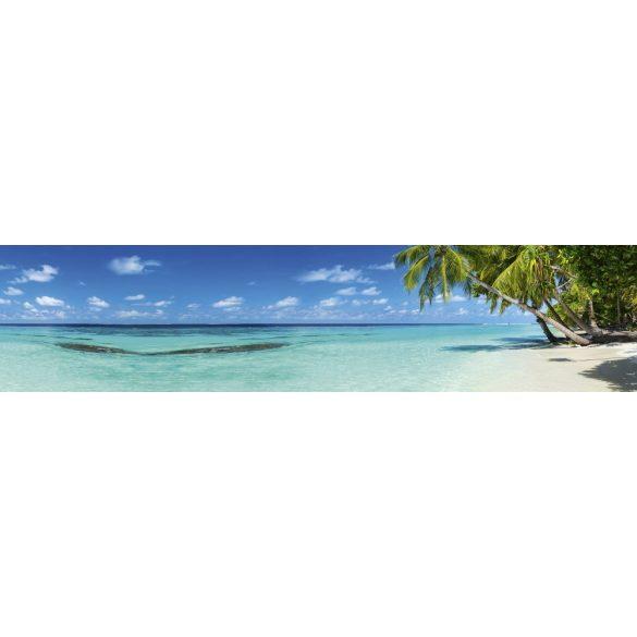 Pálmafás tengerpart, konyhai matrica hátfal, 260 cm