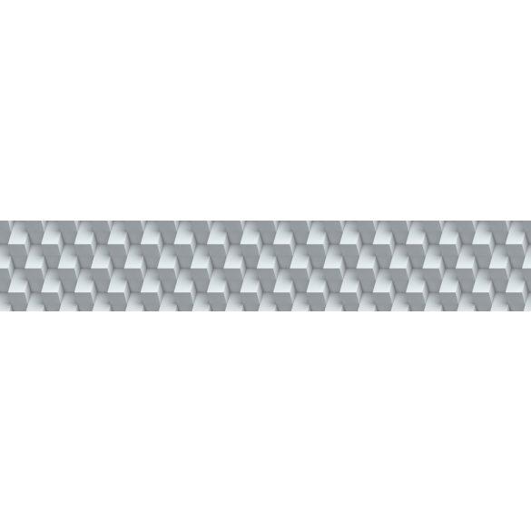 3D geometrikus fal, konyhai matrica hátfal, 260 cm