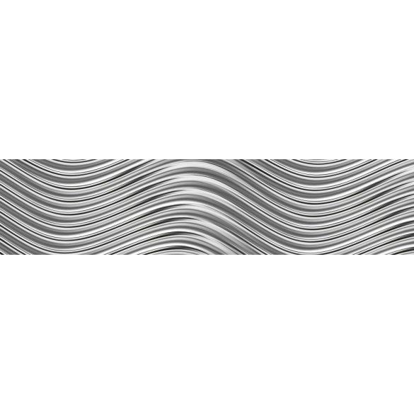Metálos hullámok, konyhai matrica hátfal, 260 cm