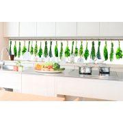 Fűszernövények, konyhai matrica hátfal, 350 cm