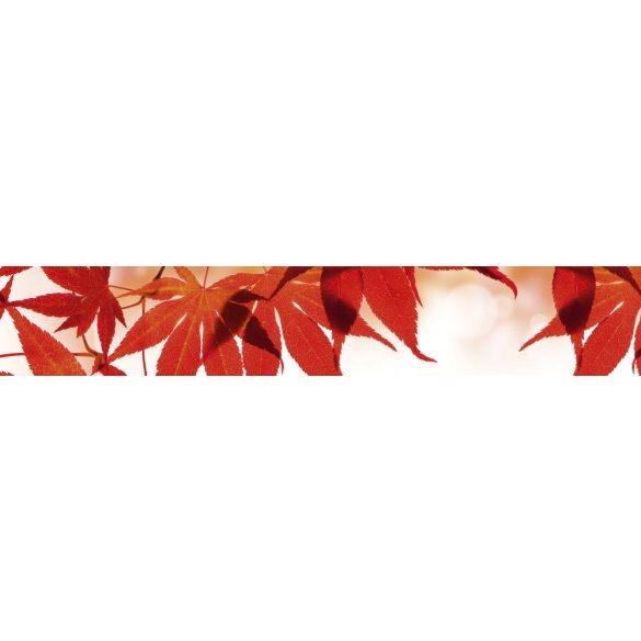 Piros levelek, konyhai matrica hátfal, 350 cm