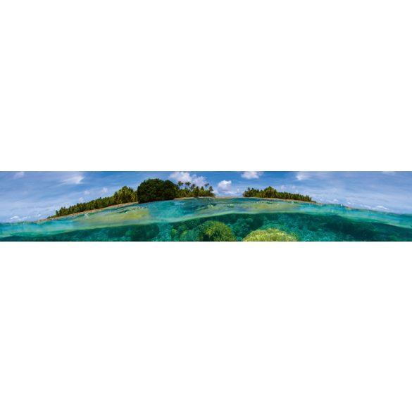 Trópusi korallszigetek, konyhai matrica hátfal, 350 cm