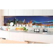 New York fényei, konyhai matrica hátfal, 350 cm