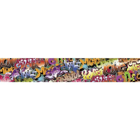 Graffiti, konyhai matrica hátfal, 350 cm