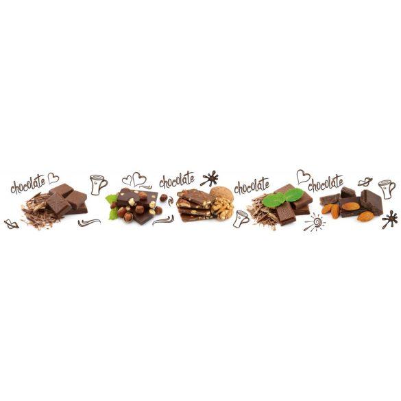 Csokoládé, konyhai matrica hátfal, 350 cm