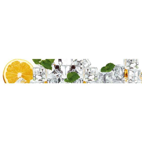 Narancs jégkockákkal, konyhai matrica hátfal, 350 cm