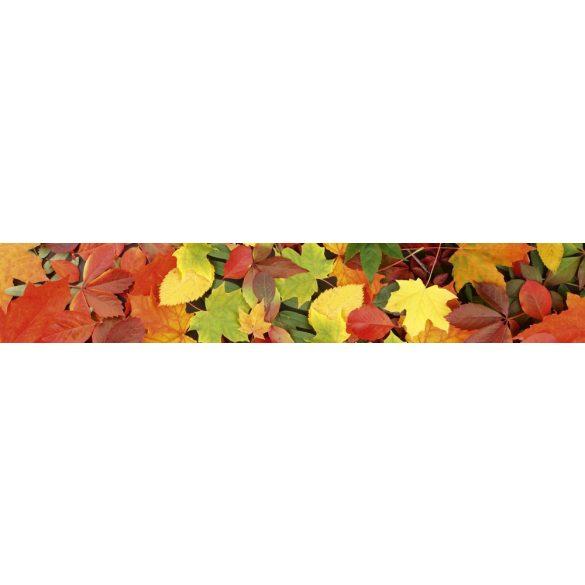 Őszi levelek, konyhai matrica hátfal, 350 cm