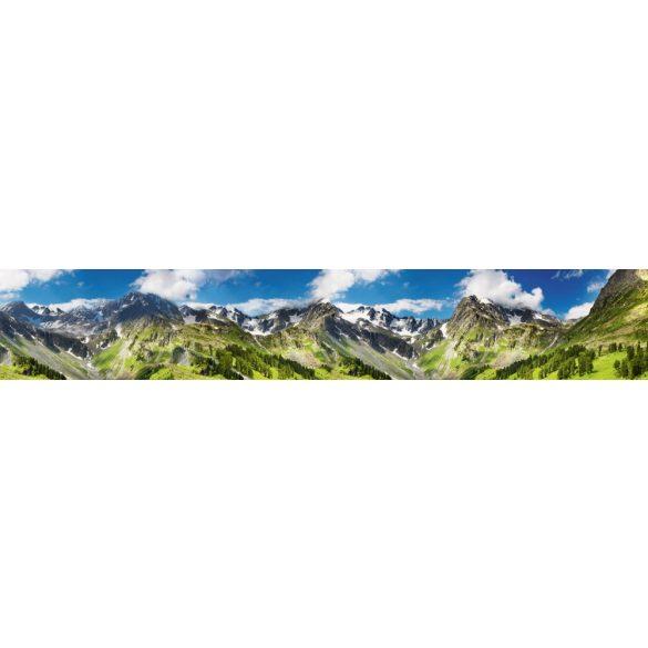 Havas hegyek, konyhai matrica hátfal, 350 cm