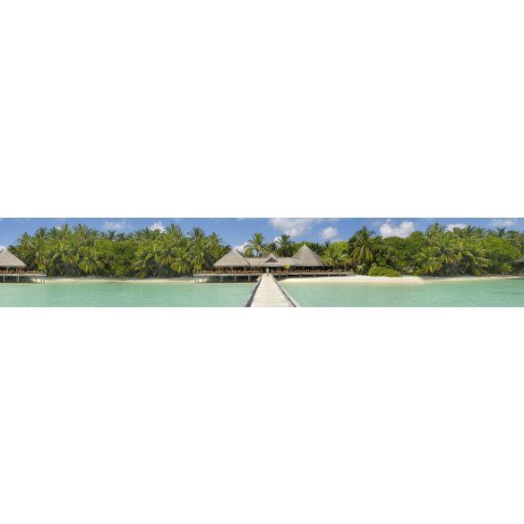 Trópusi paradicsom, konyhai matrica hátfal, 350 cm