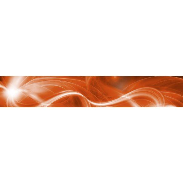 Narancsos fények, konyhai matrica hátfal, 350 cm