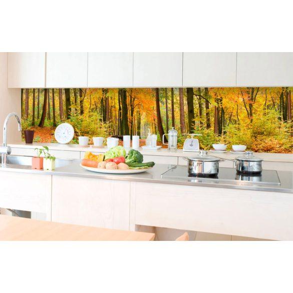 Őszi erdő, konyhai matrica hátfal, 350 cm