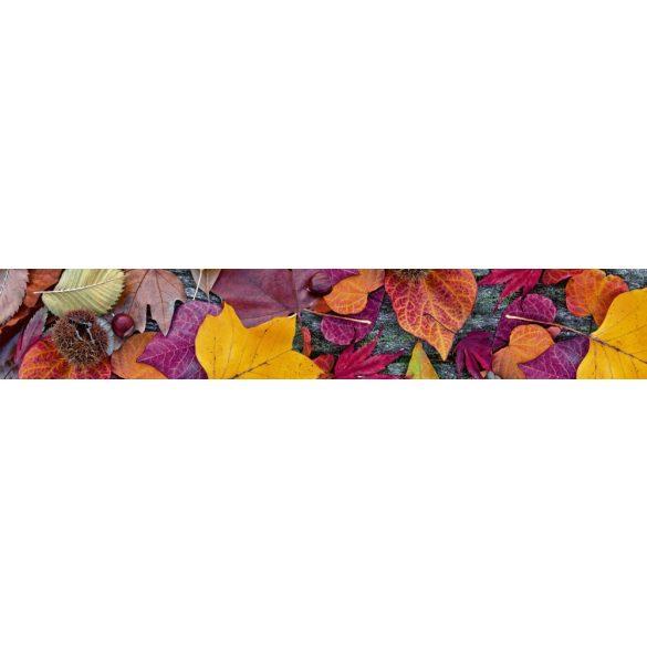 Őszi levelek és termések, konyhai matrica hátfal, 350 cm