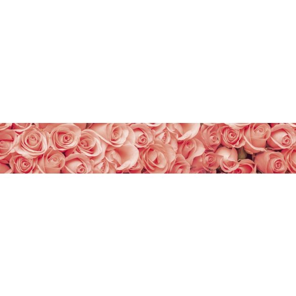 Rózsák, konyhai matrica hátfal, 350 cm