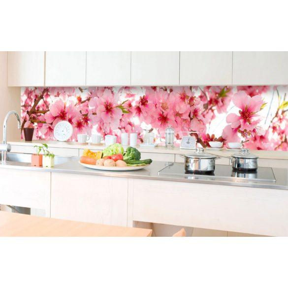 Cseresznyevirágok, konyhai matrica hátfal, 350 cm