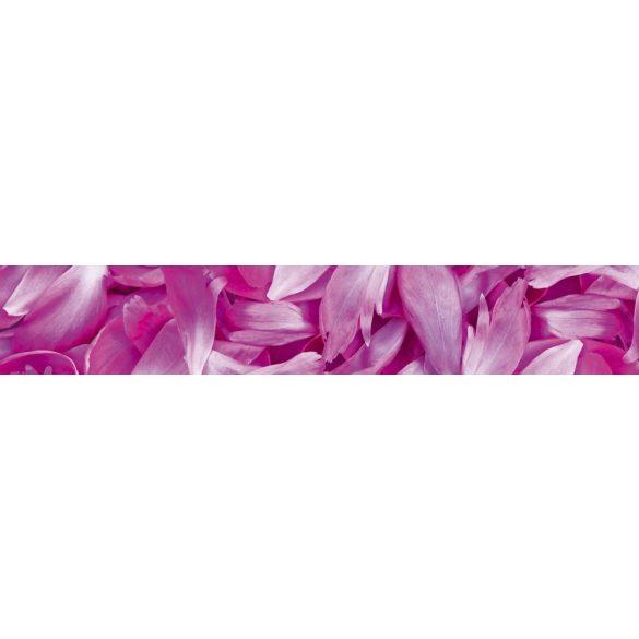 Rózsaszín virágszirmok, konyhai matrica hátfal, 350 cm