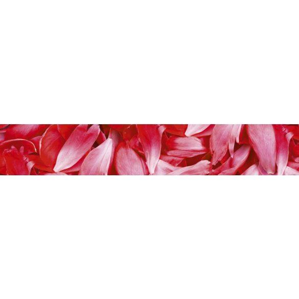 Virágszirmok, konyhai matrica hátfal, 350 cm