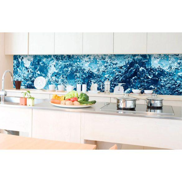 Buborékos víz, konyhai matrica hátfal, 350 cm