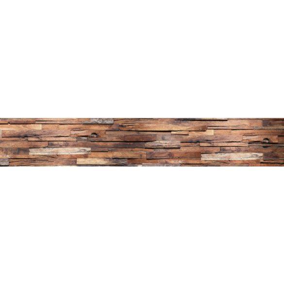 Fa rétegek, konyhai matrica hátfal, 350 cm