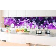 Lila kristályok, konyhai matrica hátfal, 350 cm