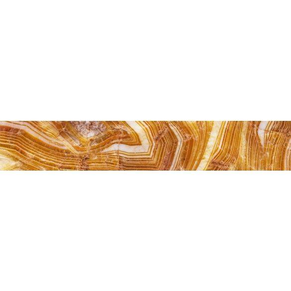 Sárga kristály, konyhai matrica hátfal, 350 cm