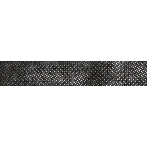 Acél, konyhai matrica hátfal, 350 cm