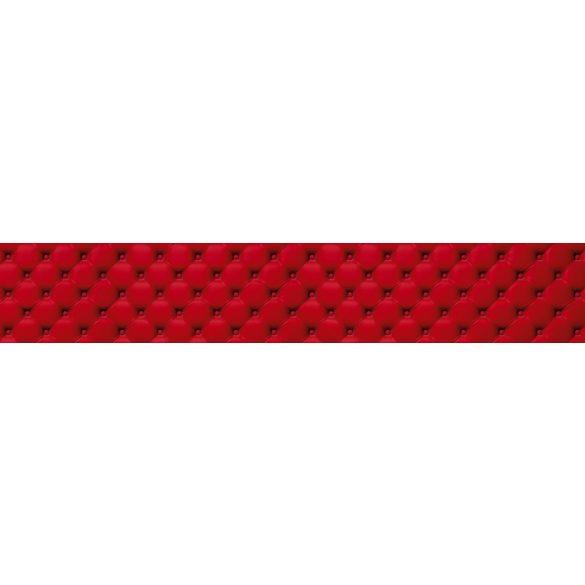 Piros bútor, konyhai matrica hátfal, 350 cm