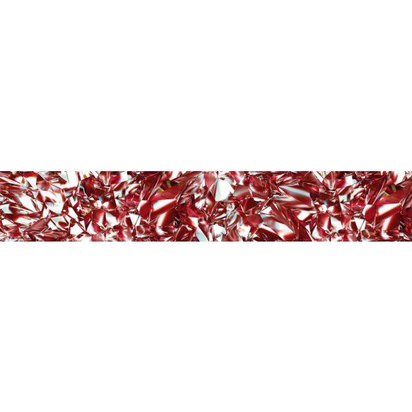 Piros gyémánt, konyhai matrica hátfal, 350 cm