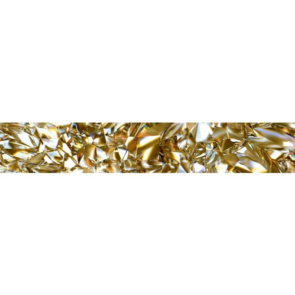 Sárga gyémánt, konyhai matrica hátfal, 350 cm