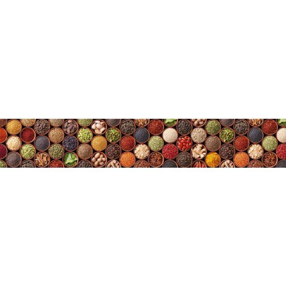 Fűszerek tálkában, konyhai matrica hátfal, 350 cm