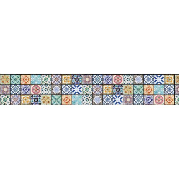 Csempeminták, konyhai matrica hátfal, 350 cm
