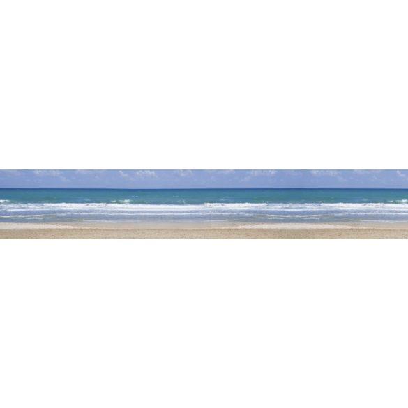 Hullámos tengerpart, konyhai matrica hátfal, 350 cm