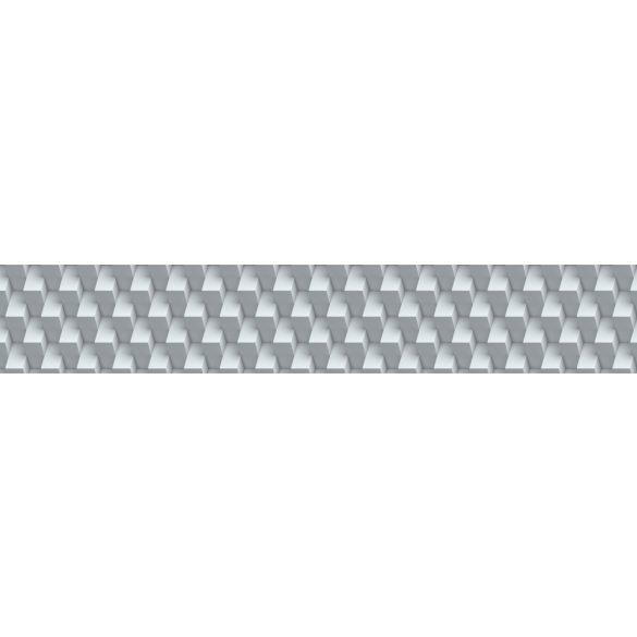 3D geometrikus fal, konyhai matrica hátfal, 350 cm