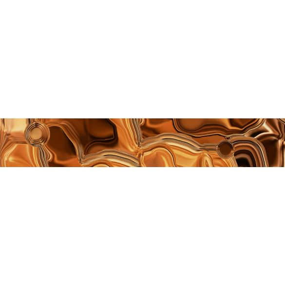 Bronzos folyadék, konyhai matrica hátfal, 350 cm