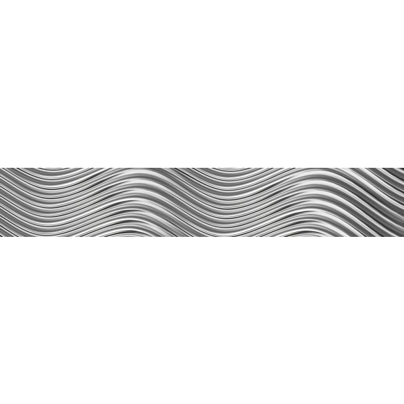 Metálos hullámok, konyhai matrica hátfal, 350 cm