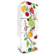 Gyümölcsök, hűtőszekrény matrica, 180 cm