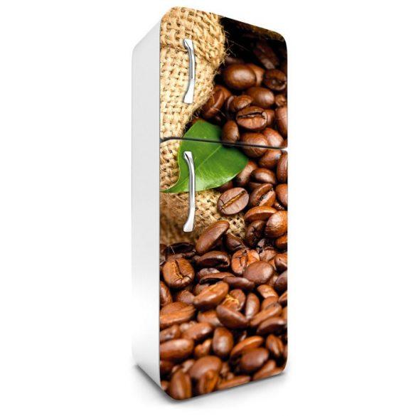 Kávészemek, hűtőszekrény matrica, 180 cm