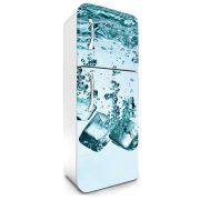 Jégkockák, hűtőszekrény matrica, 180 cm