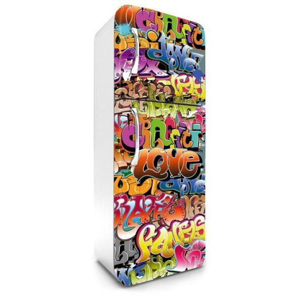 Graffiti, hűtőszekrény matrica, 180 cm