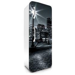 Éjjeli Boston, hűtőszekrény matrica, 180 cm