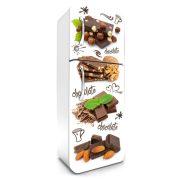 Csokoládé, hűtőszekrény matrica, 180 cm