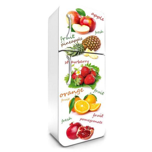 Gyümölcsmix, hűtőszekrény matrica, 180 cm