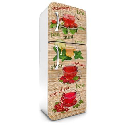 Teák, hűtőszekrény matrica, 180 cm