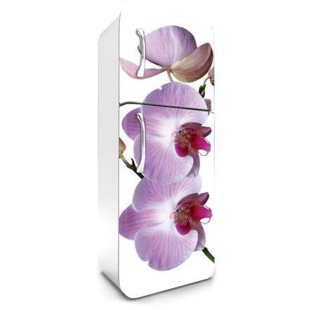 Lila orchidea, hűtőszekrény matrica, 180 cm